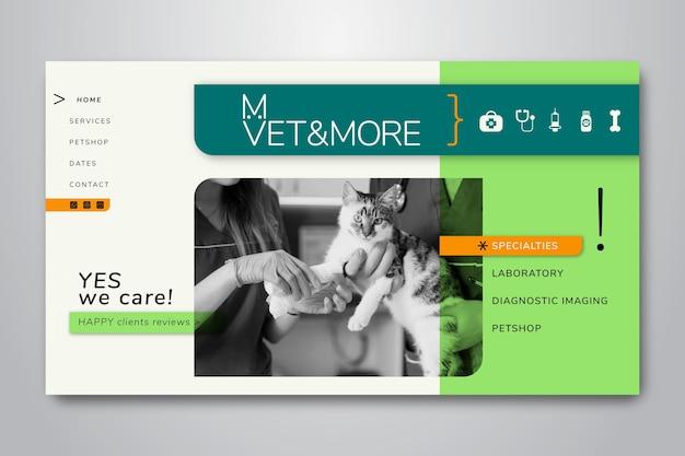 Modèle de page de destination pour les entreprises vétérinaires