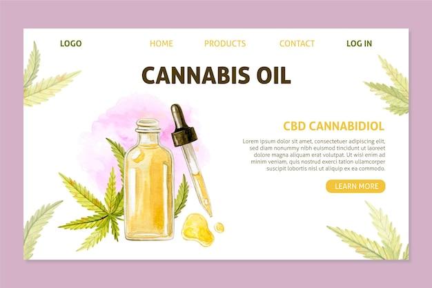 Modèle de page de destination pour l'huile de cannabis