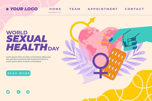 Modèle de page de destination pour la journée mondiale de la santé sexuelle