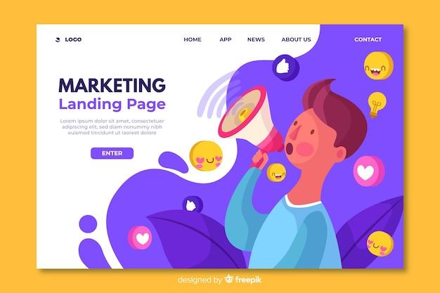 Modèle de page de destination pour le marketing