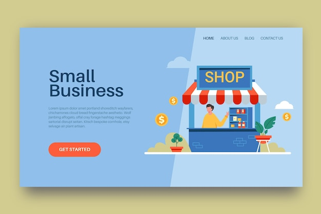 Modèle de page de destination pour petites entreprises