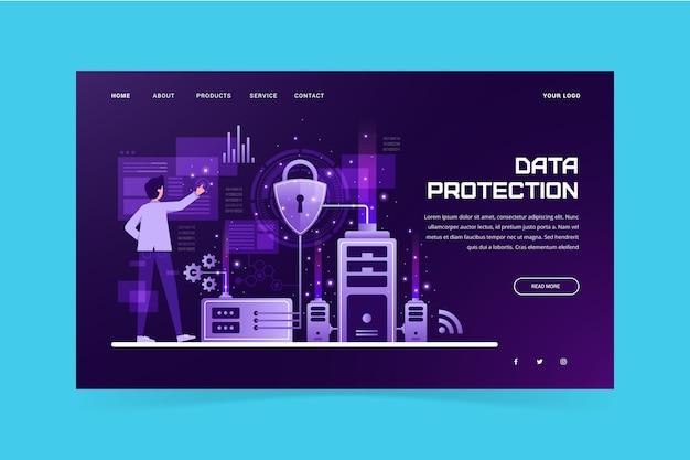 Modèle de page de destination pour la protection des données