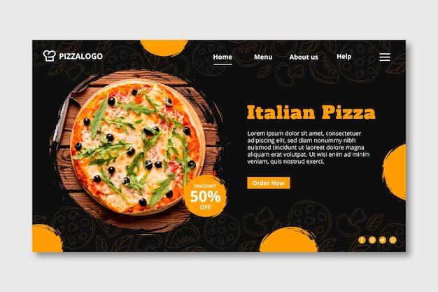 Modèle de page de destination pour un restaurant de cuisine italienne