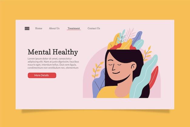 Modèle de page de destination pour la santé mentale
