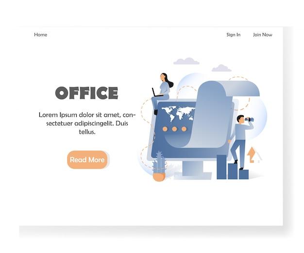 Modèle de page de destination pour site web de bureau commercial