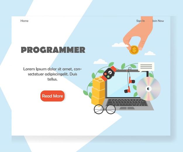 Modèle de page de destination pour site web de programmeur