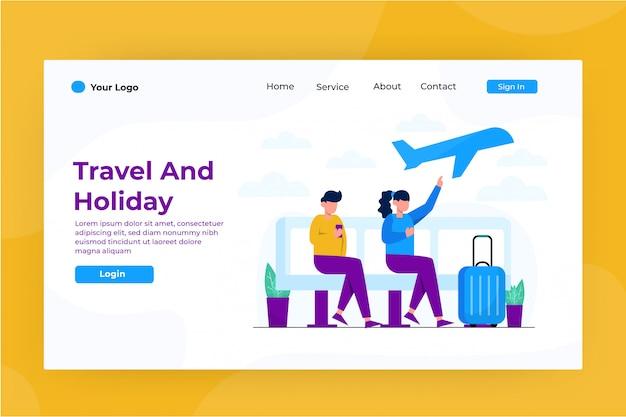 Modèle de page de destination pour les voyages et les vacances