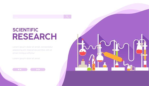 Modèle de page de destination de recherche scientifique