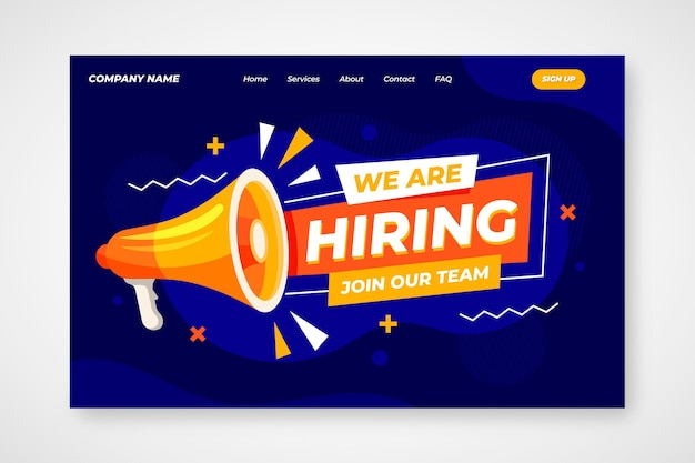 Modèle de page de destination de recrutement créatif