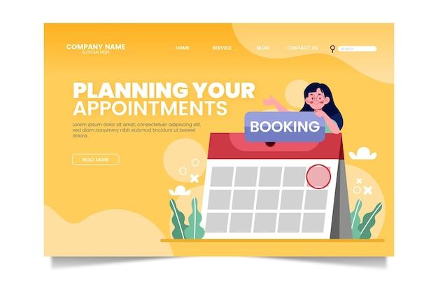 Modèle de page de destination de réservation de rendez-vous
