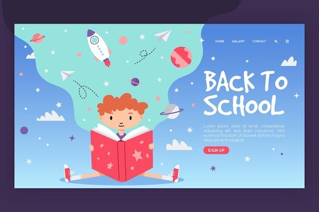 Modèle de page de destination de retour à l'école