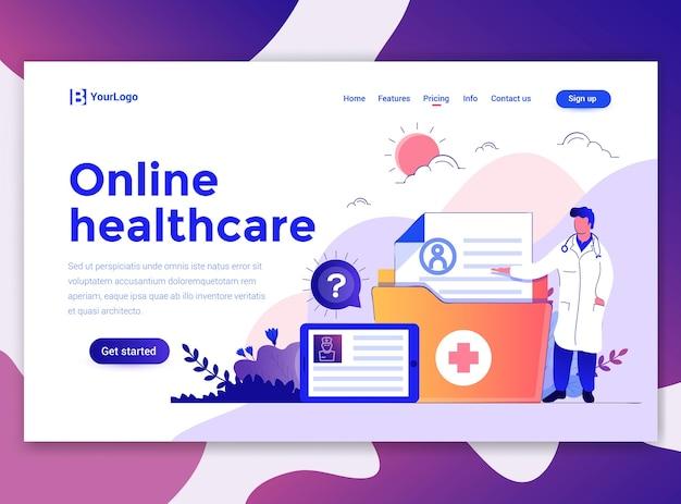 Modèle de page de destination de la santé en ligne