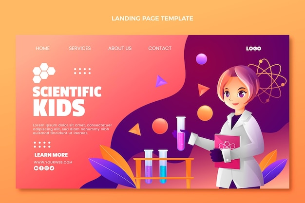 Modèle de page de destination de la science du gradient