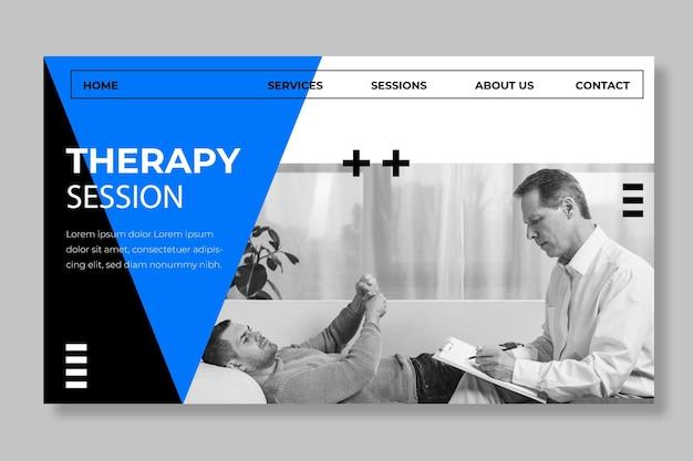 Modèle de page de destination des séances de thérapie