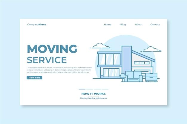 Modèle de page de destination des services de déménagement de maison