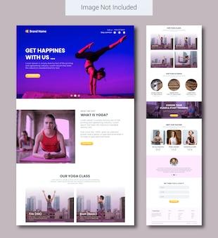 Modèle de page de destination de services de yoga