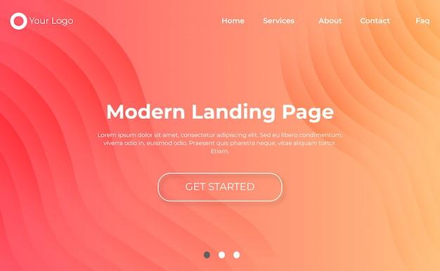 Modèle de page de destination de site web moderne