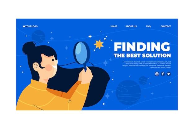 Modèle De Page De Destination De Solutions Créatives Organiques Vecteur gratuit