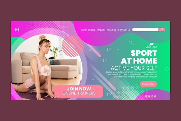 Modèle de page de destination sport à la maison