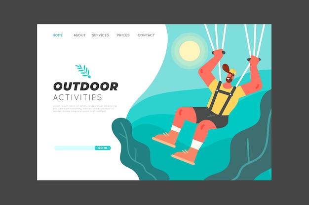 Modèle de page de destination de sport en plein air