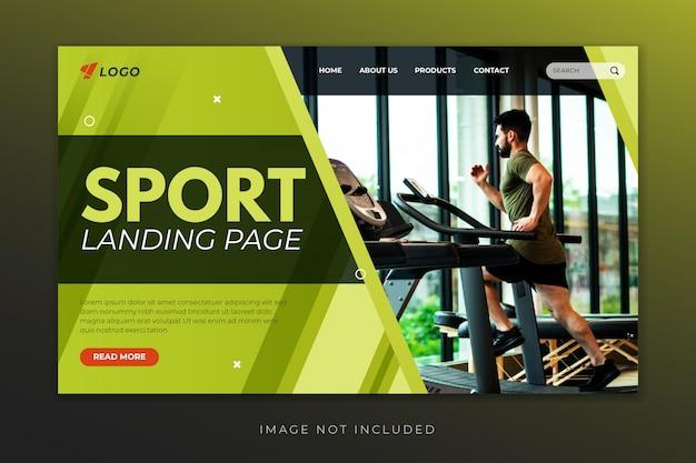 Modèle de page de destination de sport pour salle de sport, entraîneur personnel et centre de fitness