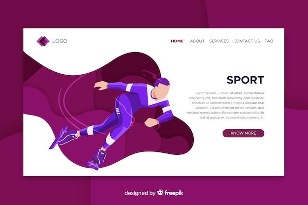 Modèle de page de destination sport