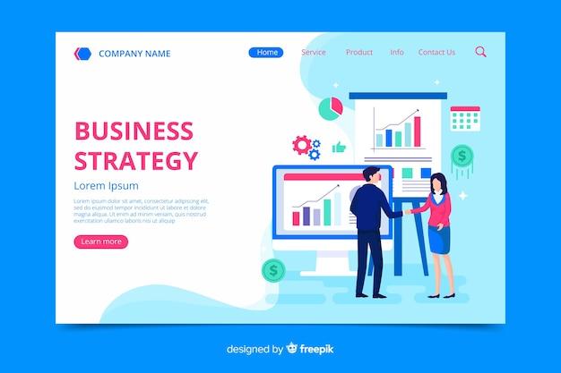 Modèle de page de destination de stratégie commerciale