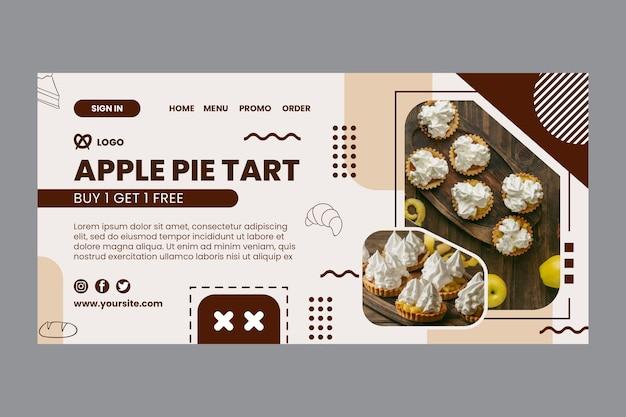 Modèle de page de destination de tarte aux pommes
