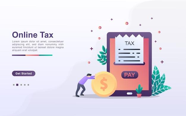 Modèle de page de destination de la taxe en ligne