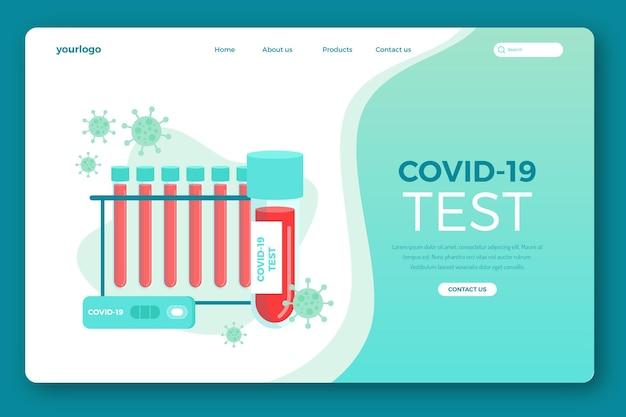 Modèle de page de destination de test covid-19