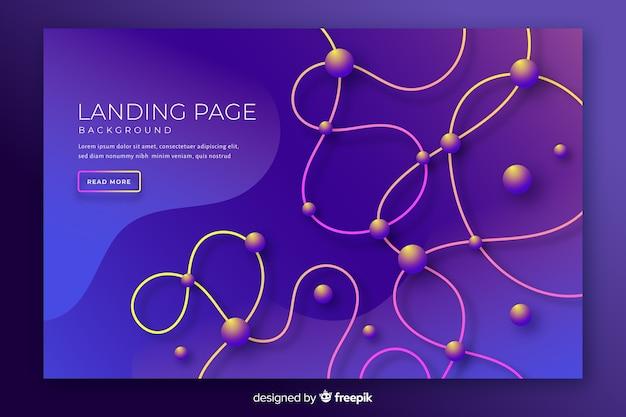 Modèle de page de destination tridimensionnelle abstraite