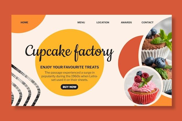 Modèle de page de destination d'usine de bonbons