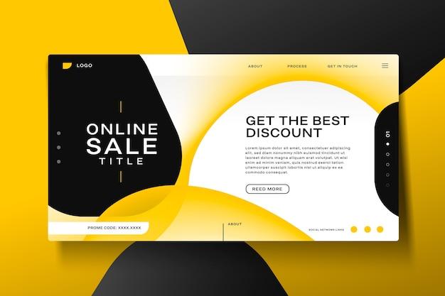Modèle de page de destination de vente abstraite