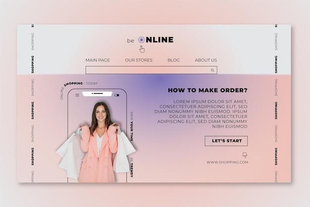 Modèle de page de destination de vente en ligne
