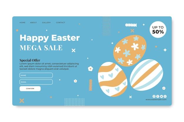 Modèle de page de destination de vente de pâques