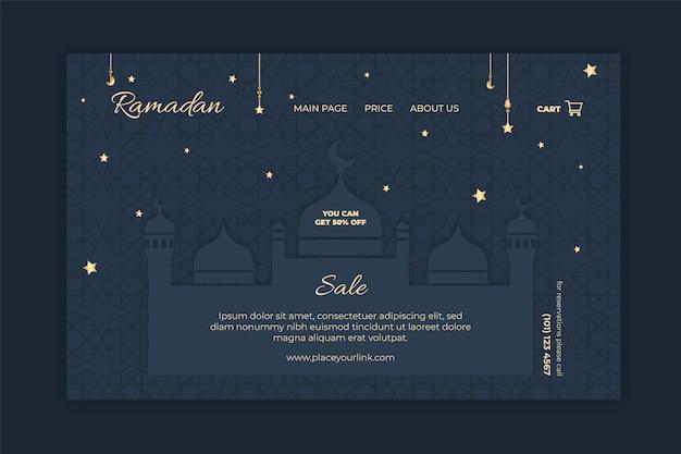 Modèle de page de destination de vente ramadan