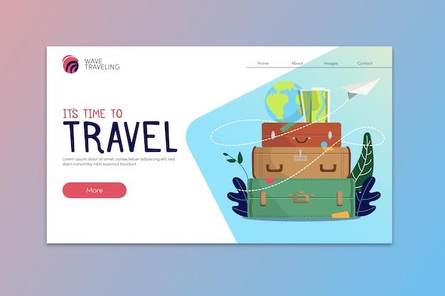 Modèle de page de destination de voyage