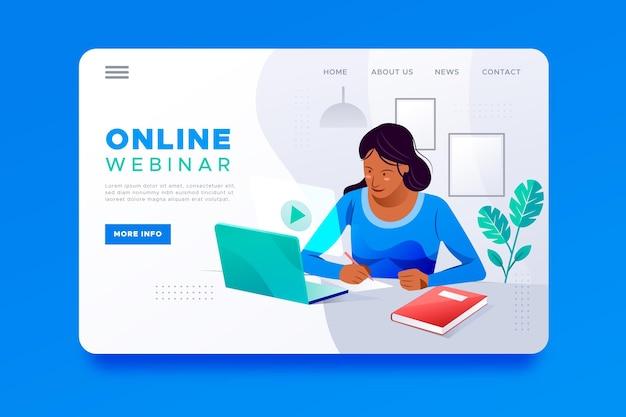 Modèle de page de destination de webinaire