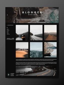 Modèle de page principale de blog