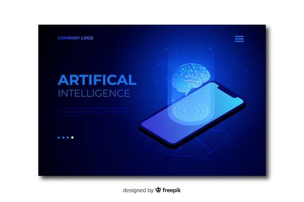 Modèle de page de renvoi intelligence artificielle