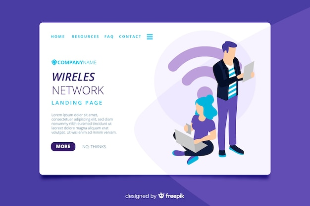 Modèle de page de renvoi de réseau sans fil