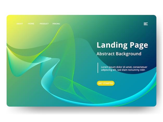 Modèle de page de renvoi web, bannière, présentation