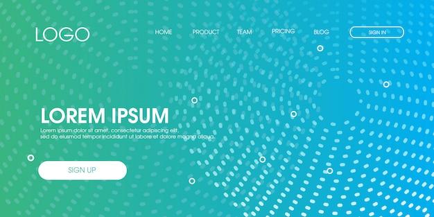 Modèle de page de renvoi web minimal abstrait moderne