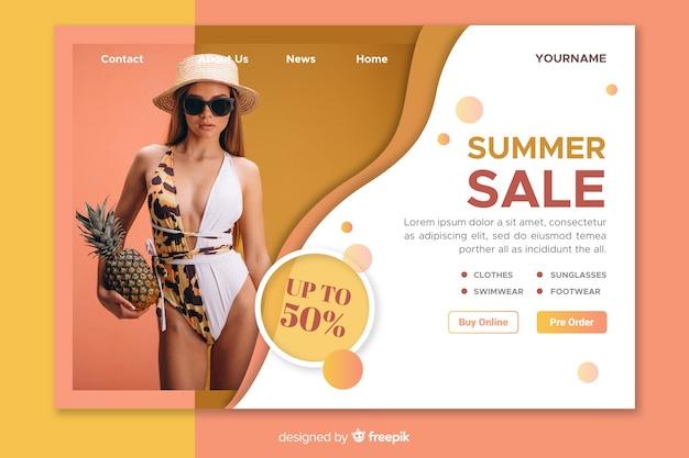 Modèle de page de vente avec photo