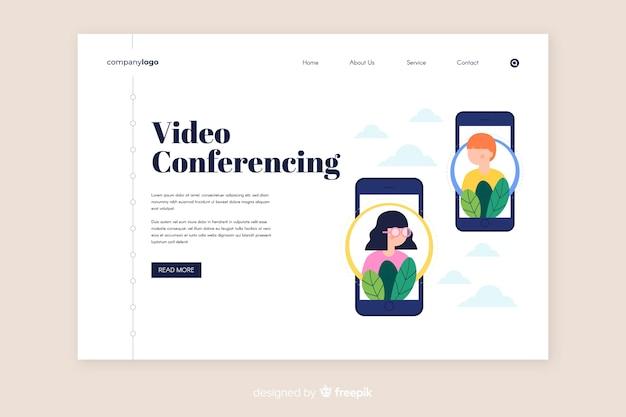 Modèle de page de vidéoconférence et de conférence