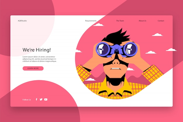 Modèle de page web créatif