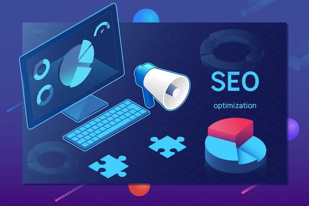 Modèle de page web d'optimisation seo