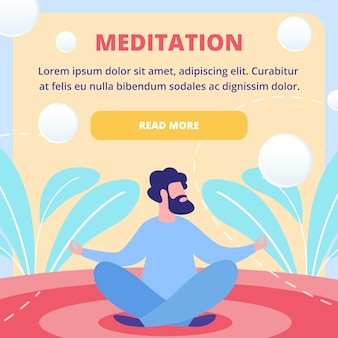 Modèle de page web plate de cours de méditation