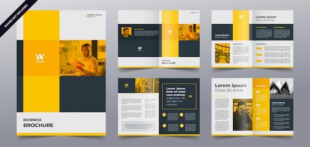 Modèle de pages de brochure jaune moderne