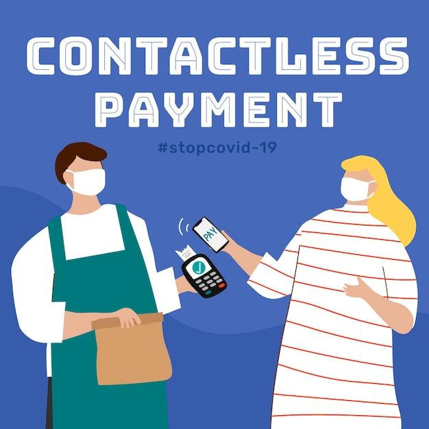 Modèle de paiement sans contact pendant l'épidémie de covid-19